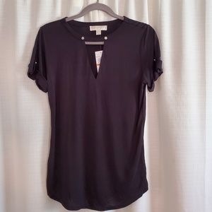 Michael Kors basics flowy black shirt NWT